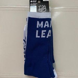 NWT Toronto maple leaf socks